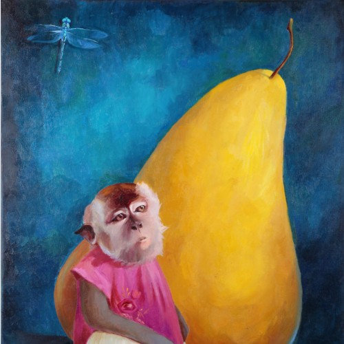 Картина Monkey with Pear